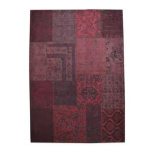 By-Boo Patchwork Vloerkleed Patchwork rood