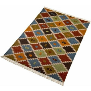 Wollen kleed, Kite, Home Affaire Collection, rechthoekig, hoogte 5 mm, met de hand geweven