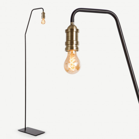 Starkey staande lamp, zwart en messing