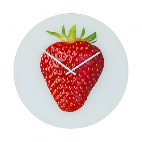 Wandklok Strawberry