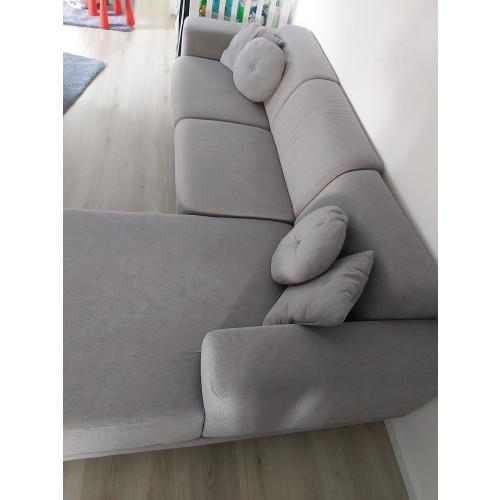 Grijze lounge/ U bank afbeelding 2