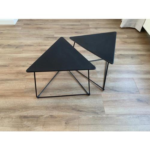 VINTAGE zwarte tafeltjes 2x afbeelding