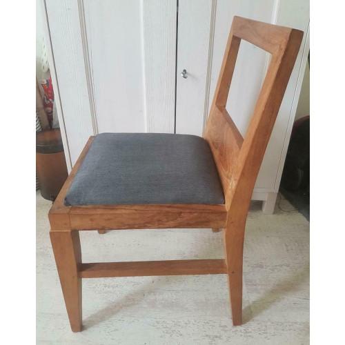Mooie houten stoelen met bekleding (4x) afbeelding