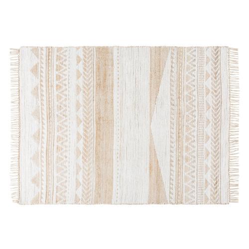 Bohemian Vloerkleed Wit/Beige (Maison Du Monde) afbeelding