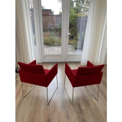 Rode fauteuils 2x afbeelding 2