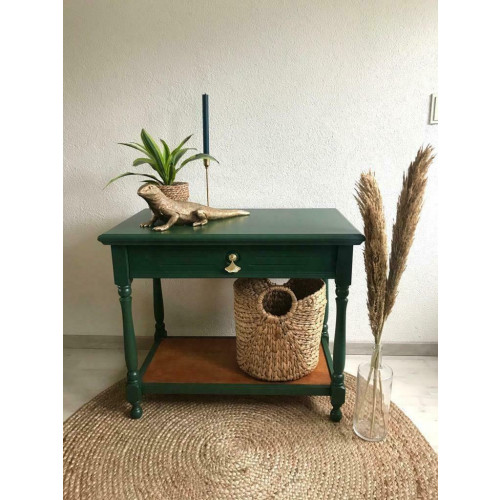 Tafeltje / Sidetable groen / Gerestyled / Opgeknapt afbeelding