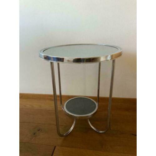 Vintage rooktafel inclusief rookset afbeelding