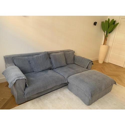 Sofa-3zits + hocker afbeelding