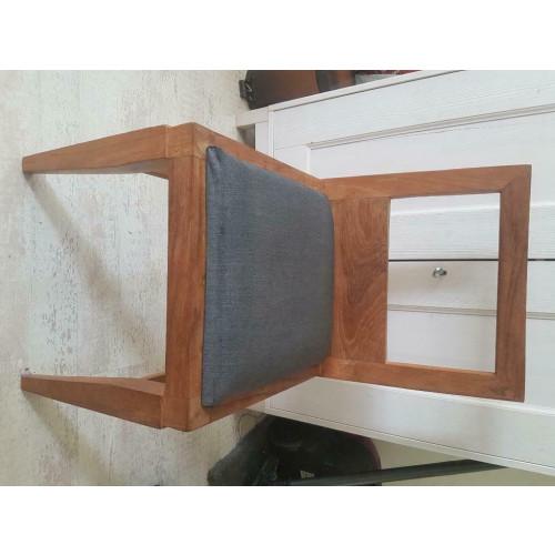 Mooie houten stoelen met bekleding (4x) afbeelding 2