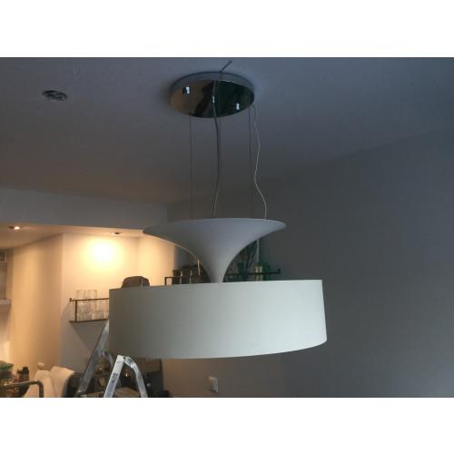 Witte Design hang lamp afbeelding