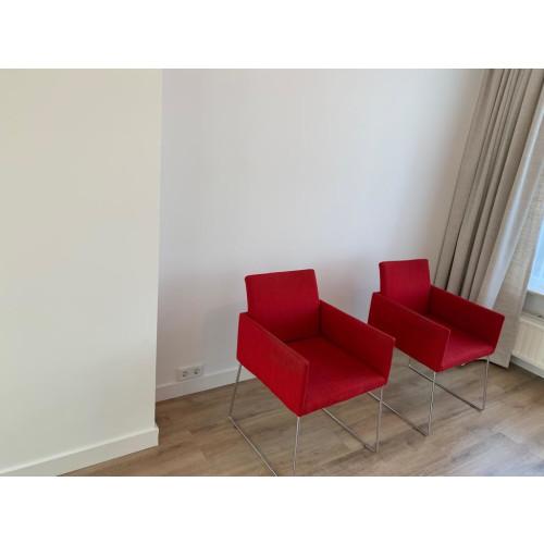 Rode fauteuils 2x afbeelding