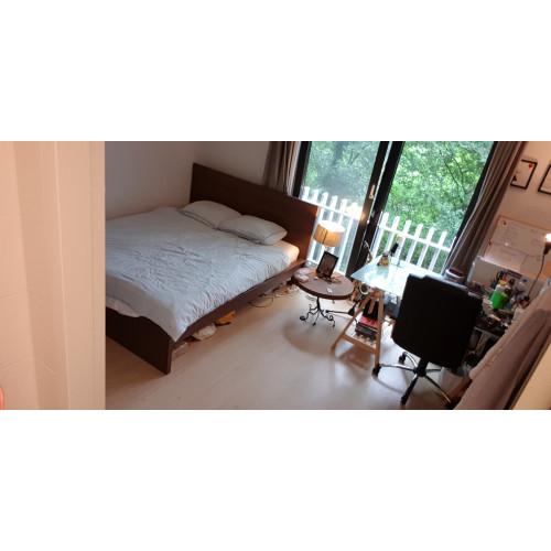 MALM bed met HYLLESTAD matras en LUROY lattenbodem (pas 2.5 jaar oud) afbeelding