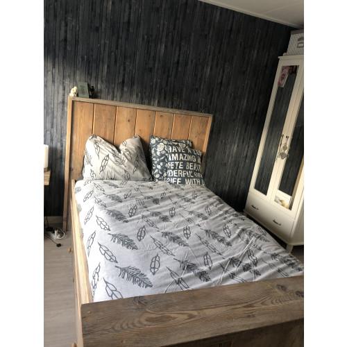 Steigerhouten bed inclusief matras afbeelding