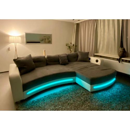 Lounge bank met Led verlichting en Bluetooth afbeelding