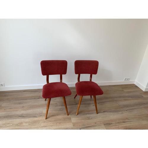 Oud roze stoelen 2x  afbeelding