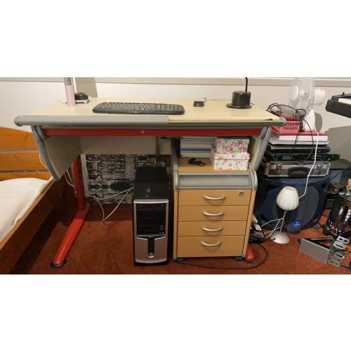 Moll Bureau 115x63 in hoogte verstelbaar afbeelding
