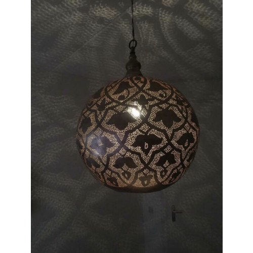 Zenza hanglamp XL (doorsnede 49cm) zilver messing afbeelding