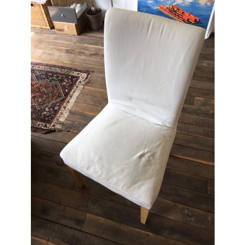 Witte HENRIKSDAL eetkamerstoel van IKEA afbeelding