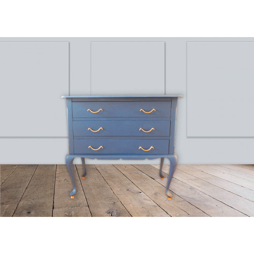 Blauw dressoir kastje afbeelding