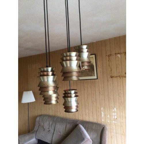 Vintage jaren 60/70 hanglamp van het merk Lakro afbeelding