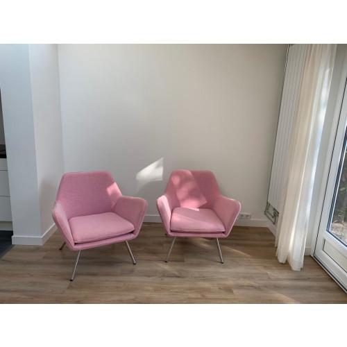 2x roze makkii fauteuil afbeelding 2