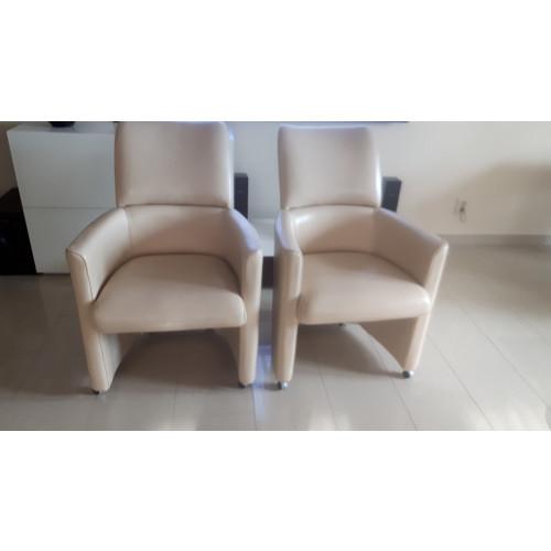 Luxe eetkamer fauteuils 4 stuks afbeelding