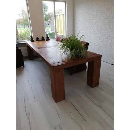 Teakhouten tafel 300 x 110 cm afbeelding
