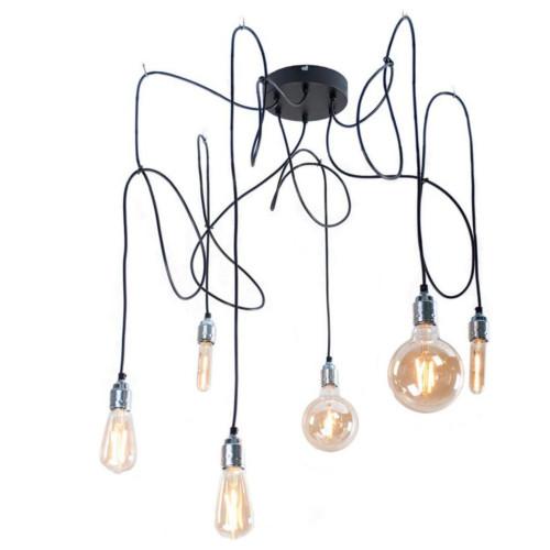 Hanglamp Maik 6 stuks GOUD (inc. ledlampen van CALEX) Trendhopper afbeelding