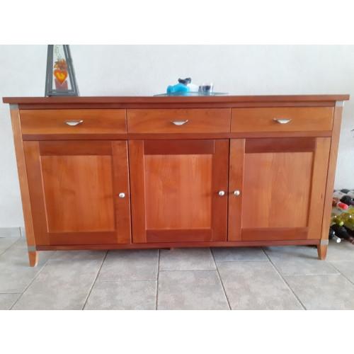 Kersenhout (RVS accenten) dressoir afbeelding