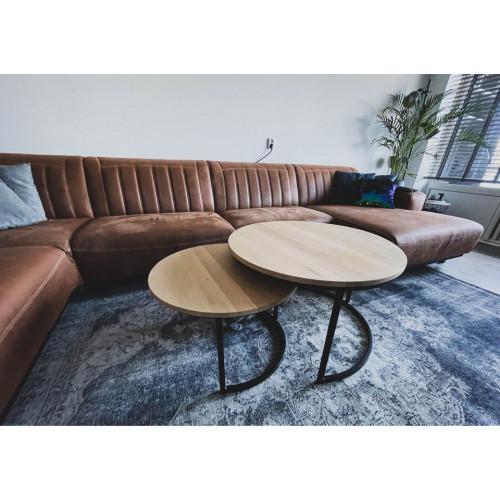 Moderne industriële eiken salontafels afbeelding