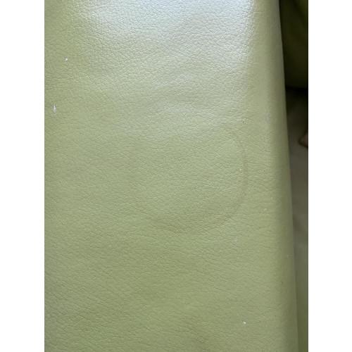Lime groene leren bank 1.5 zits afbeelding 3