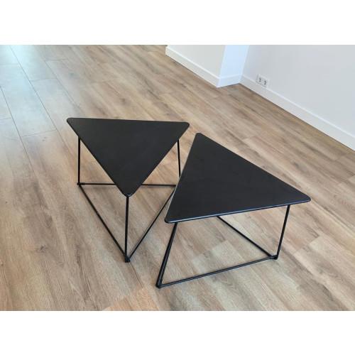 VINTAGE zwarte tafeltjes 2x afbeelding 2