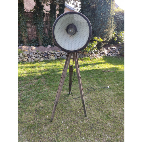 Vintage industriële vloerlamp afbeelding