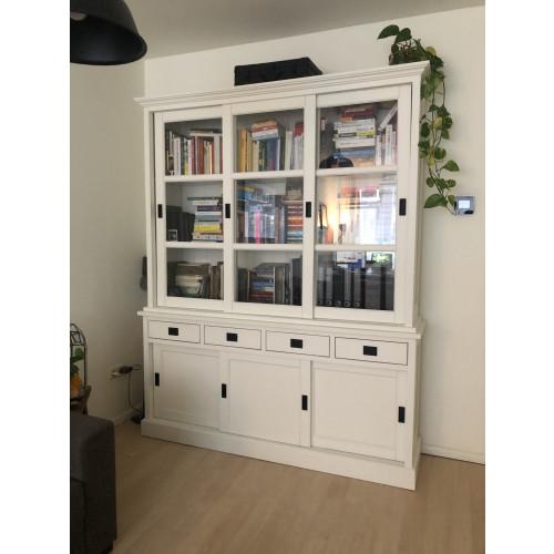 Buffetkast of boekenkast Lisa 180 cm wit afbeelding