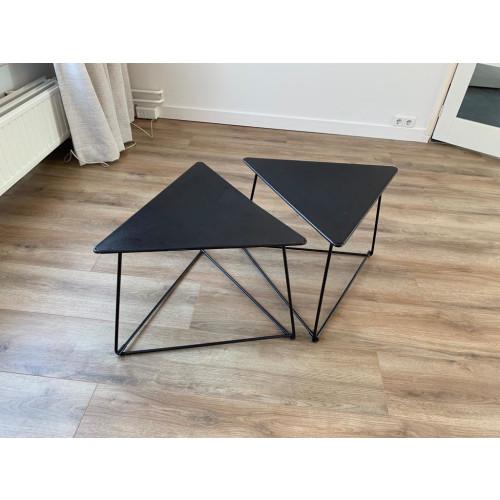 VINTAGE zwarte tafeltjes 2x afbeelding 3