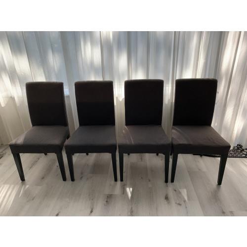 5 eetkamer stoelen antraciet afbeelding