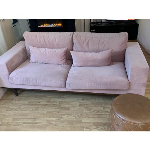 Roze velvet bank wehkamp afbeelding