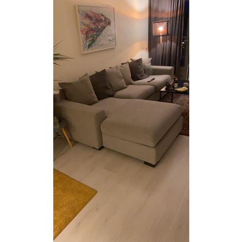 Stoffen bank met lounge afbeelding