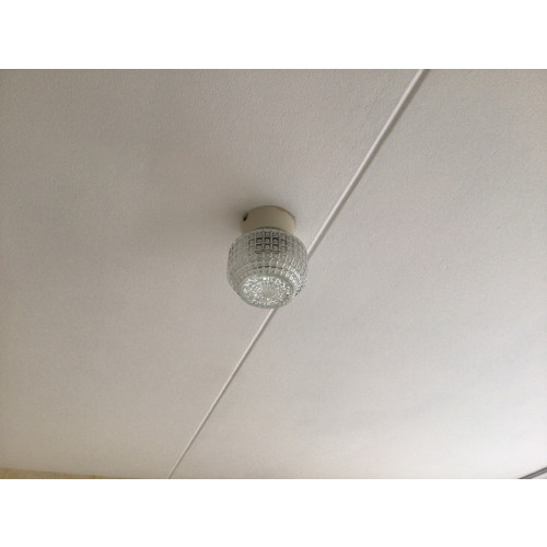 Vintage glazen plafondlamp afbeelding