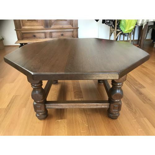 Eiken salontafel te koop afbeelding