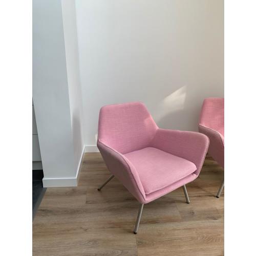2x roze makkii fauteuil afbeelding