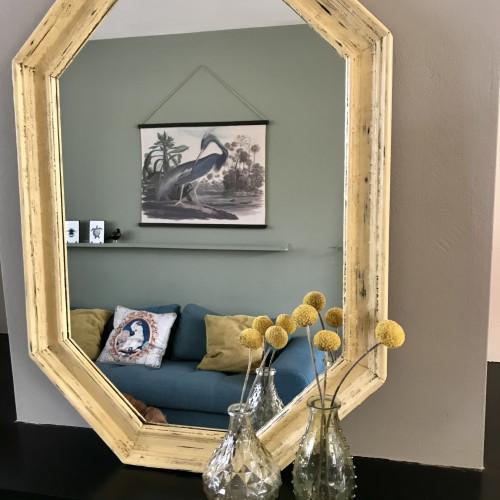 Vintage eiken spiegel afbeelding