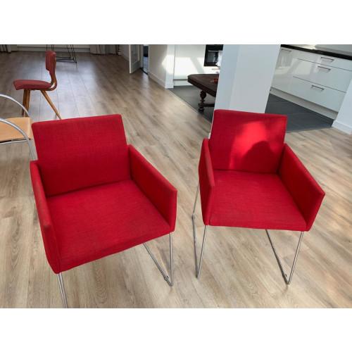 Rode fauteuils 2x afbeelding 3