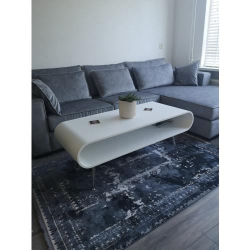 Tafel set salontafel en tv kast wit hout afbeelding